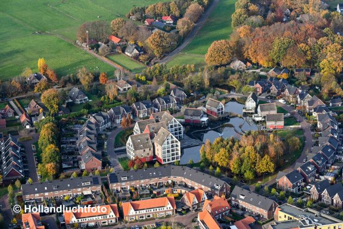 Buntehof Nunspeet uit de lucht